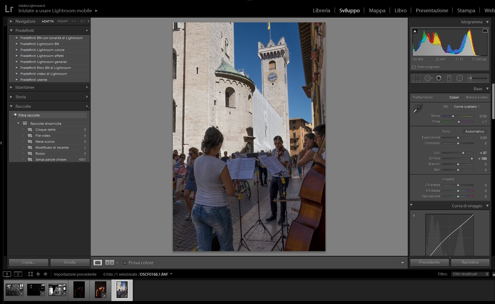 Immagine trattata in Lightroom