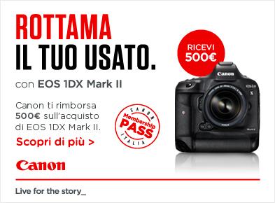 Acquista Canon 1dx Mark II e ricevi €.500