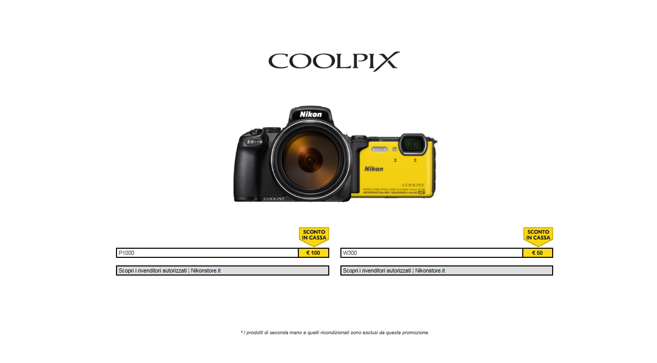 Nikon promozione